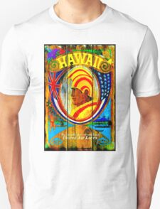 """UNITED AIR LINES"" Fly to Hawaii Print Unisex T-Shirt"
