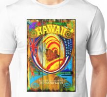 """""""UNITED AIR LINES"""" Fly to Hawaii Print Unisex T-Shirt"""