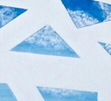 Blue Sky Breeze: Geometric Skyscape Sticker