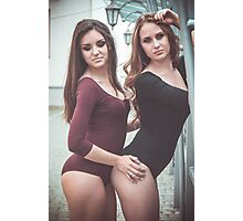 hot womans standing  Photographic Print