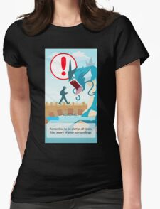POKEMON GO LOADING SCREEN STUCK Womens Fitted T-Shirt