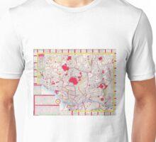 Vintage Map of Tokyo Japan (1880)  Unisex T-Shirt