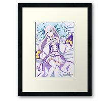 Re:Zero - Emilia - Bed Framed Print