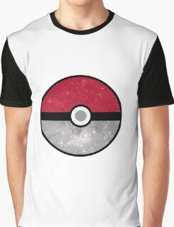 Galaxy Pokemon Pokeball Graphic T-Shirt