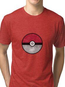 Galaxy Pokemon Pokeball Tri-blend T-Shirt
