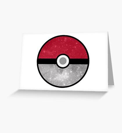Galaxy Pokemon Pokeball Greeting Card
