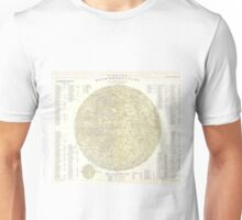 Vintage Map of The Moon (1880) Unisex T-Shirt