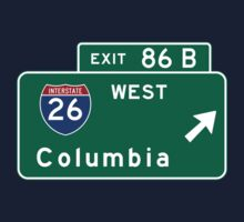 Columbia, Road Sign, MO Kids Tee