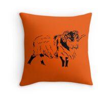 Boreray sheep Throw Pillow