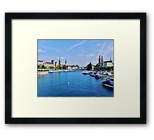 The River Runs Through It Framed Print