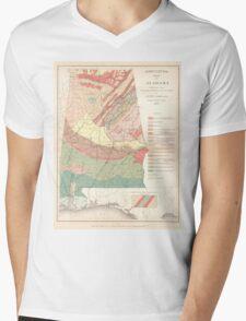 Vintage Agricultural Map of Alabama (1882) Mens V-Neck T-Shirt