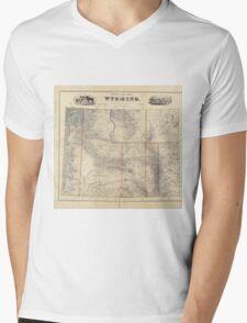 Vintage Map of Wyoming (1883) Mens V-Neck T-Shirt