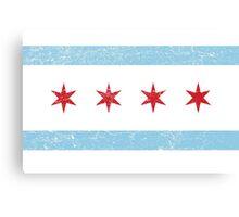 Vintage Chicago Flag Canvas Print