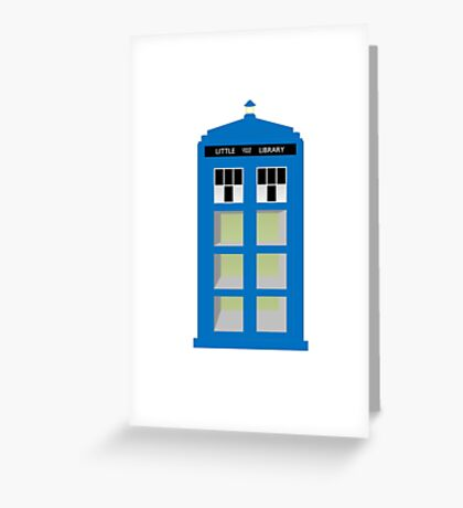 Doctor Who TARDIS little library Greeting Card
