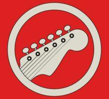 Guitar player white Baby Tee