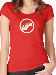 Guitar player white Women's Fitted Scoop T-Shirt