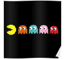 Pac Man and Ghosts Poster
