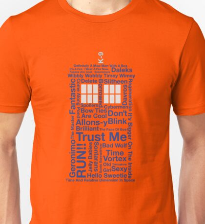 Doctor Who TARDIS quotes Unisex T-Shirt