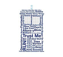 Doctor Who TARDIS quotes Photographic Print
