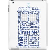 Doctor Who TARDIS quotes iPad Case/Skin