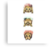 Floral monkeys Canvas Print
