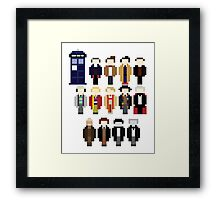 Pixel Doctor Who Regenerations Framed Print