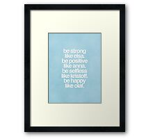 Frozen Inspired Typography Movie Poster Framed Print