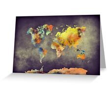 World map 2077 Greeting Card