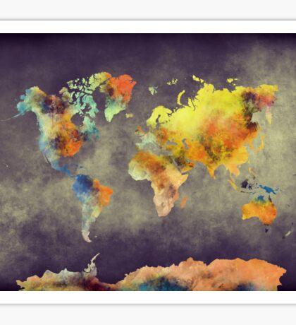 World map 2077 Sticker