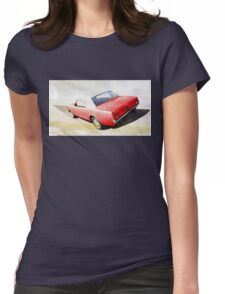 vintage car aquarell Womens Fitted T-Shirt