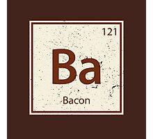 Vintage Bacon Periodic Table Element Photographic Print