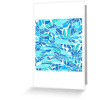 Tropical Monstera abstract pattern Greeting Card