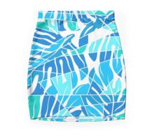 Tropical Monstera abstract pattern Mini Skirt