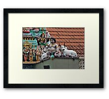 Rooftop Icons Framed Print