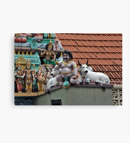 Rooftop Icons Canvas Print