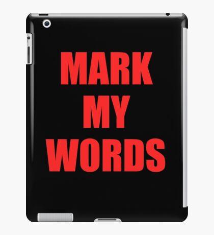 Mark My Words Justin Bieber iPad Case/Skin