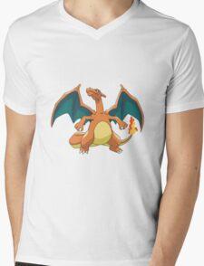 Charizard - Pokemon Mens V-Neck T-Shirt