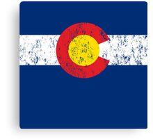 Vintage Colorado Flag Canvas Print