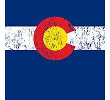 Vintage Colorado Flag Photographic Print