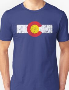 Vintage Colorado Flag Unisex T-Shirt