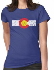Vintage Colorado Flag Womens Fitted T-Shirt