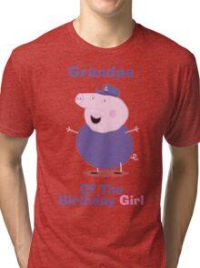 Grandpa (HBD) girl Tri-blend T-Shirt
