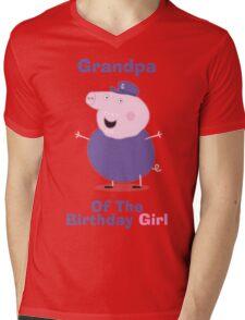 Grandpa (HBD) girl Mens V-Neck T-Shirt