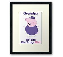 Grandpa (HBD) girl Framed Print