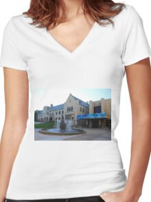 University of Toledo- Student Union II Women's Fitted V-Neck T-Shirt