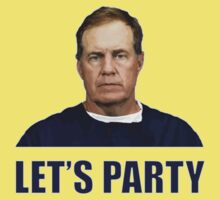 """Let's Party"" - New England Patriots coach Bill Belichick Kids Tee"