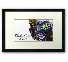 Valentino Rossi Framed Print