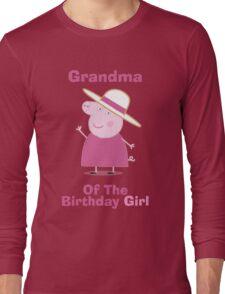 Grandma (HBD) girl Long Sleeve T-Shirt