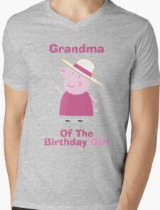Grandma (HBD) girl Mens V-Neck T-Shirt