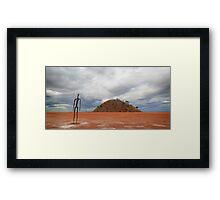 Figure In A Landscape  Framed Print
